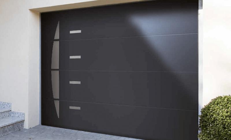 Achat porte de garage sectionnelle lat rale sur mesure pleine selve 02240 - Porte sectionnelle laterale ...
